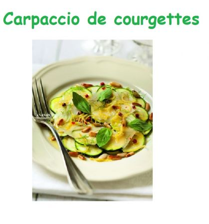 Carpaccio decourgette