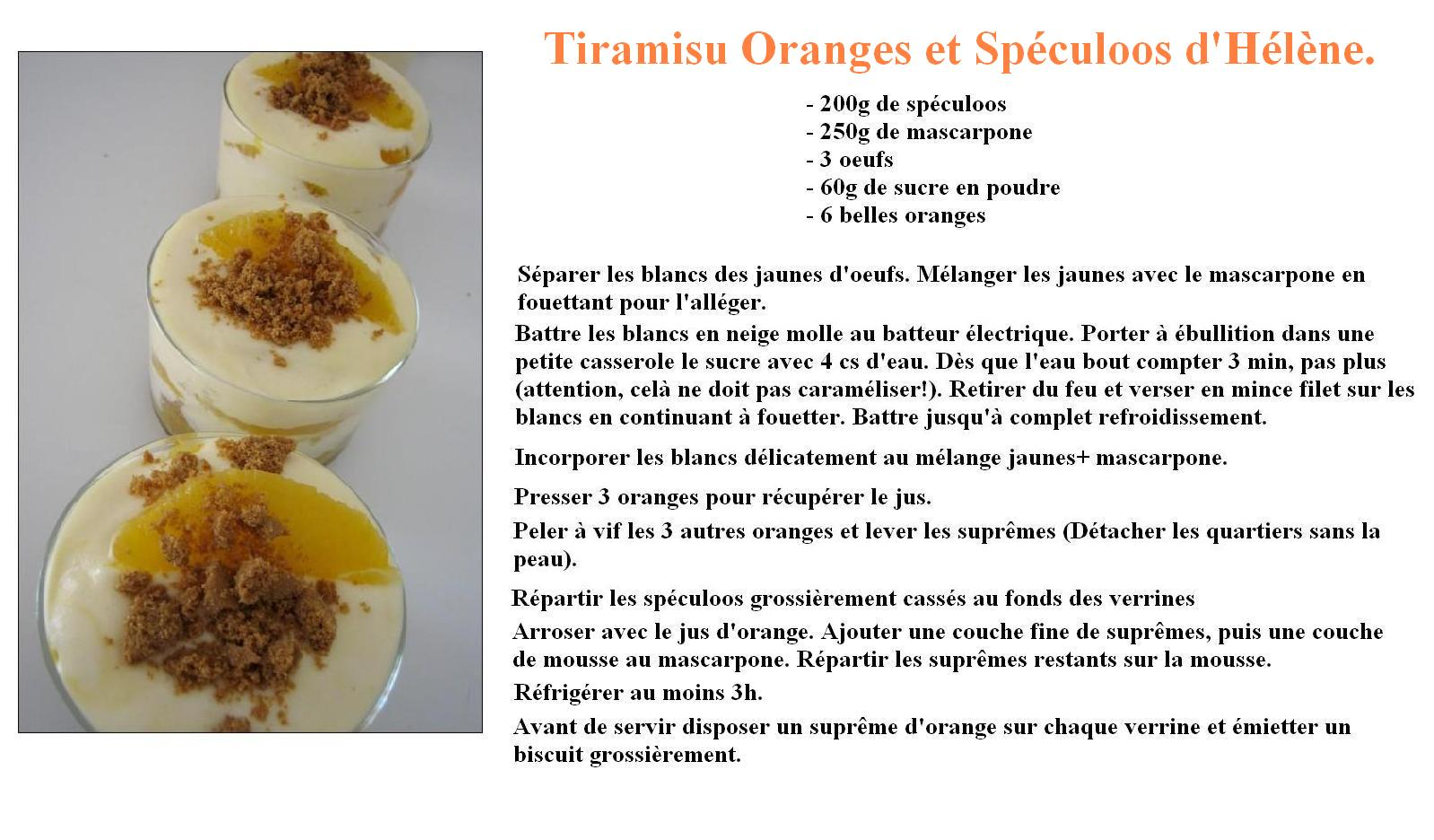 Tiramisu orange spéculoos