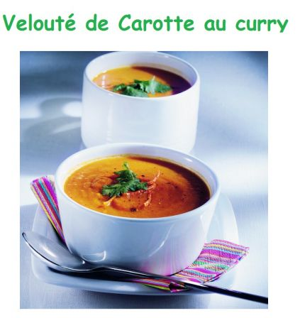 Veloute carotte au curry le fruitier de lee vente en ligne et drive disponible